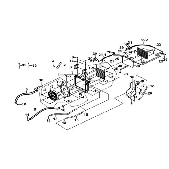 TGB Blade 550AR Landmaster Frame Parts Radiator & Fan