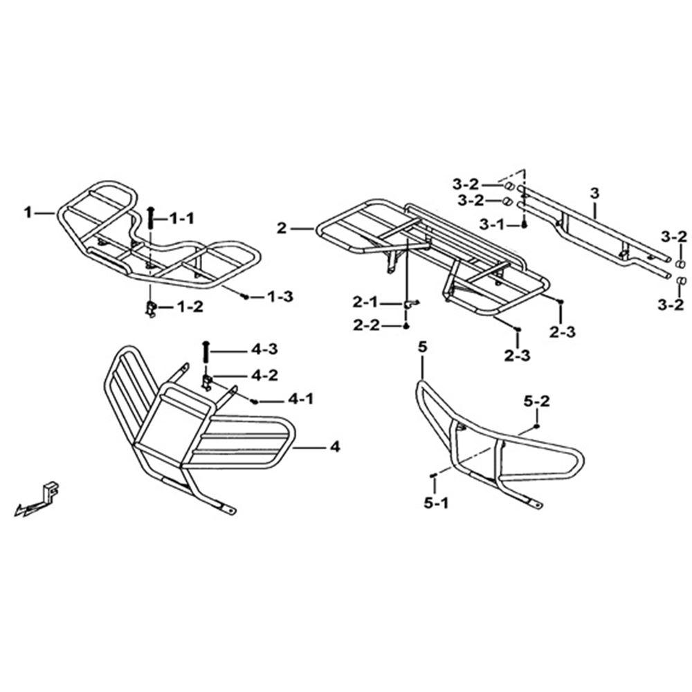 Tgb Blade 425 Frame Parts Racks & Bumpers