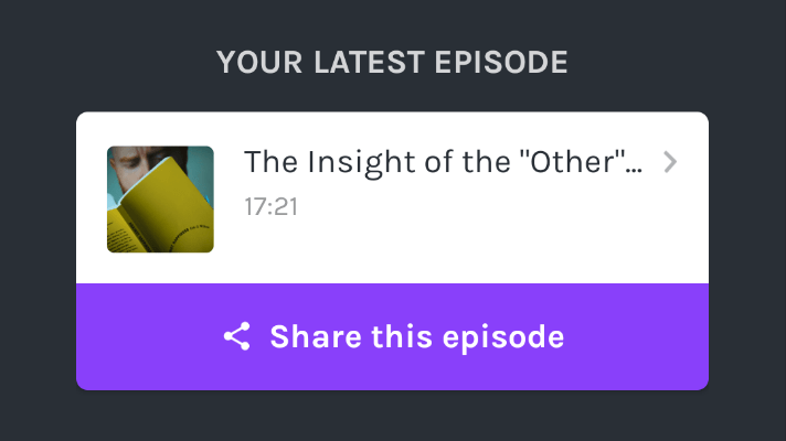 "New Podcast/Video – ""The Insight of the Other"""