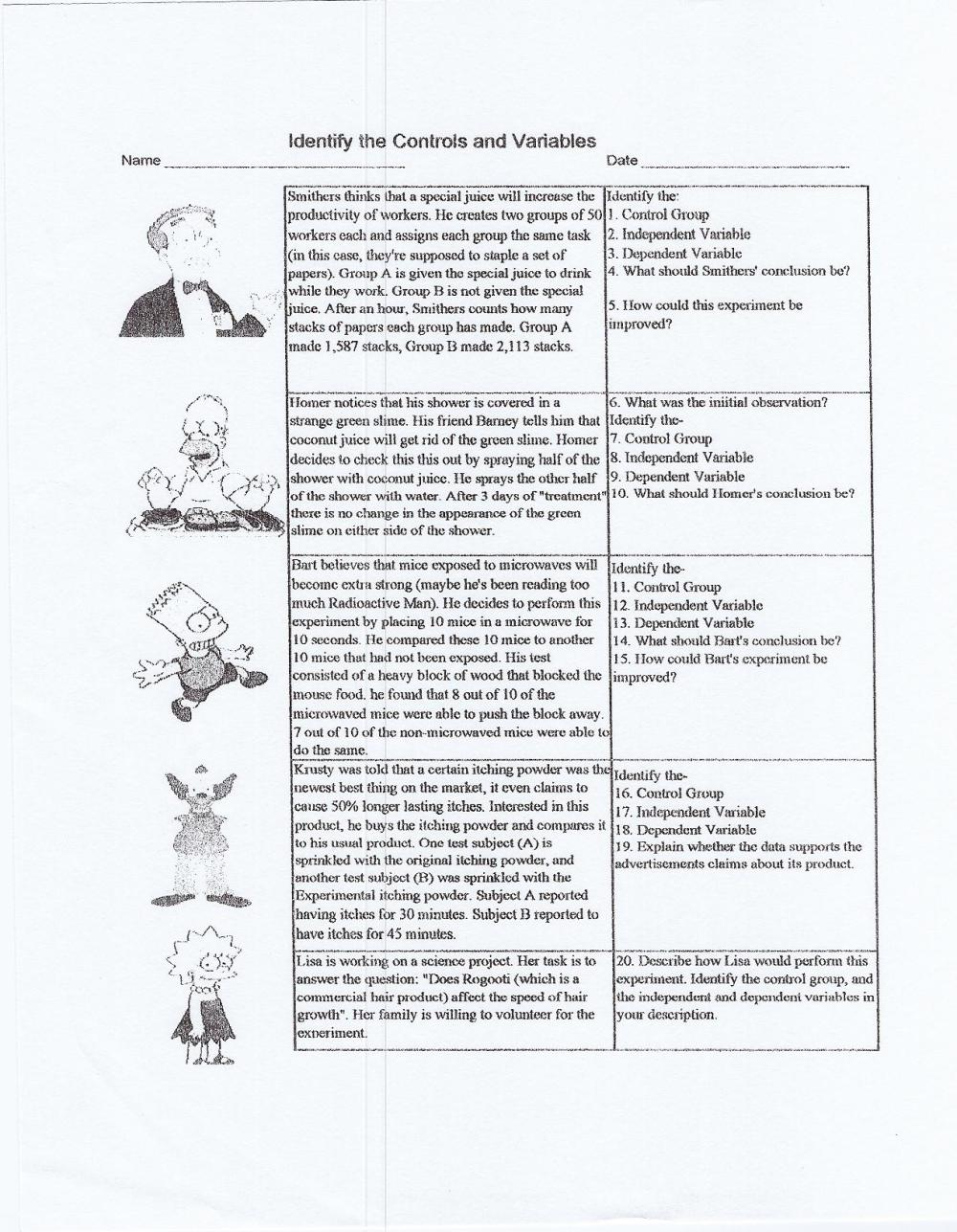 medium resolution of Scientific Method Practice Worksheet Answers - Nidecmege