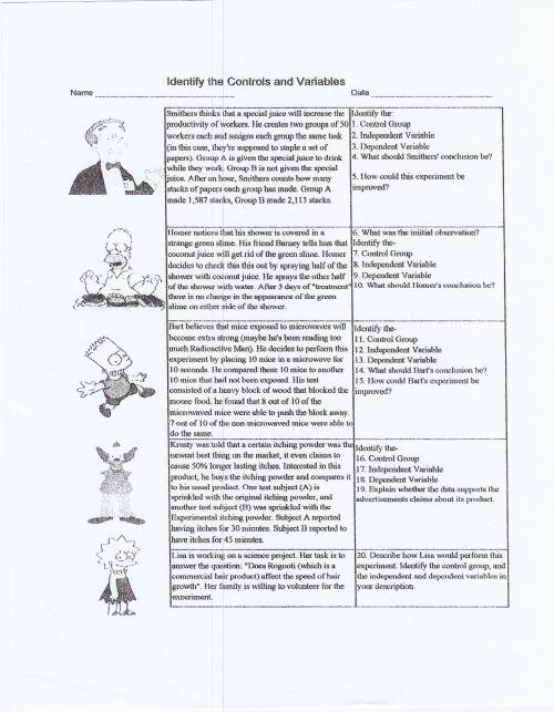 small resolution of Scientific Method Practice Worksheet Answers - Nidecmege