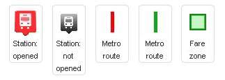Dubai Metro Icon Information