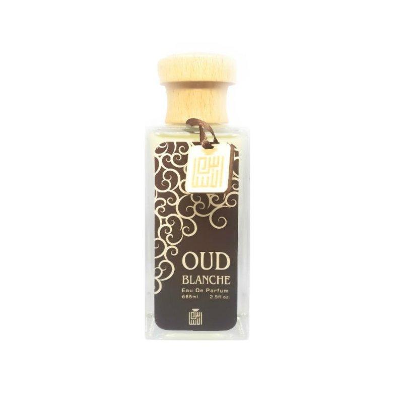 Parfum arabesc Oud Blanche un parfum oriental lemnos.