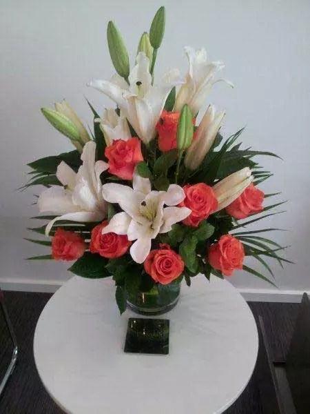 Awesome orange white flowers