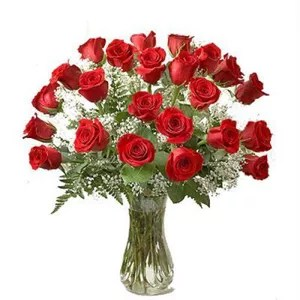 24 red roses Dubai by local flower shop