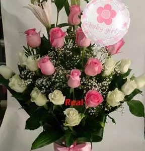 Pretty Princes for baby girl flowers balloon delivery