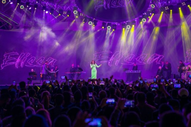 Lebanese singer Elissa charms adoring crowdon Valentine's Dayperformanceat Global Village