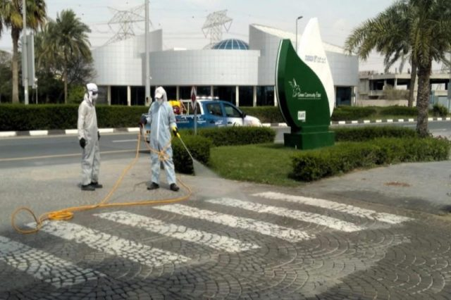 Dubai Investments Park rolls out disinfection drive supplementing Dubai Municipality sterilization initiatives