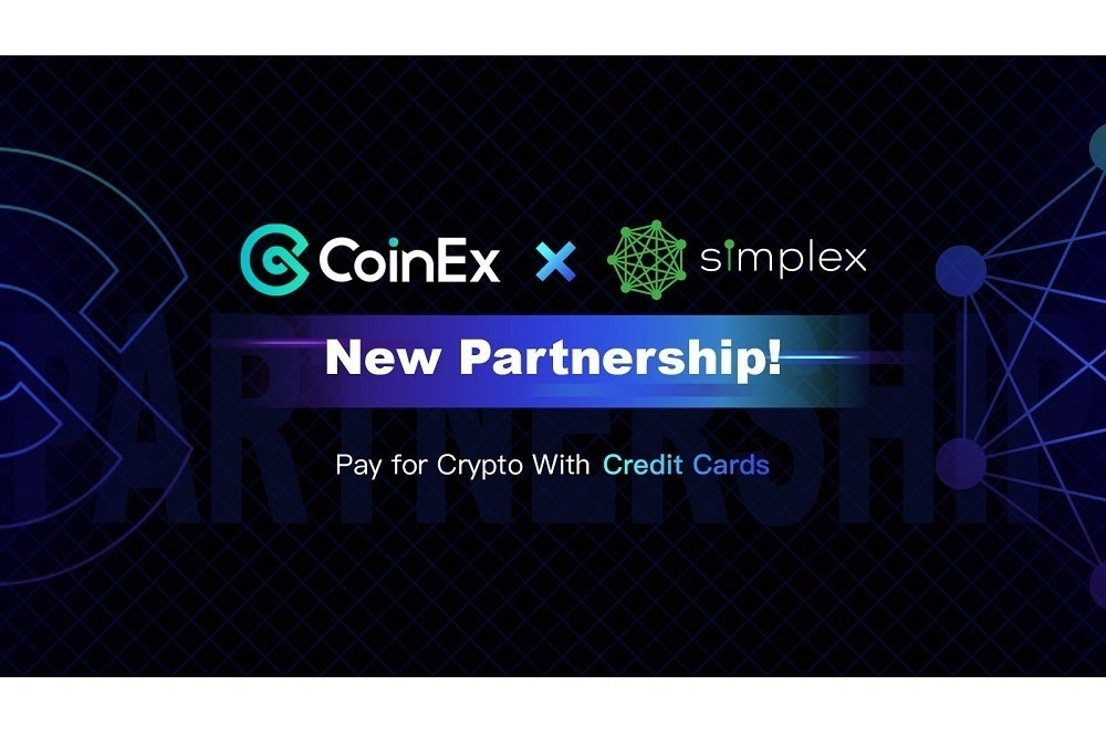 CoinEx and Simplex Form Global Partnership to Offer Credit Card Payments of Cryptocurrencies
