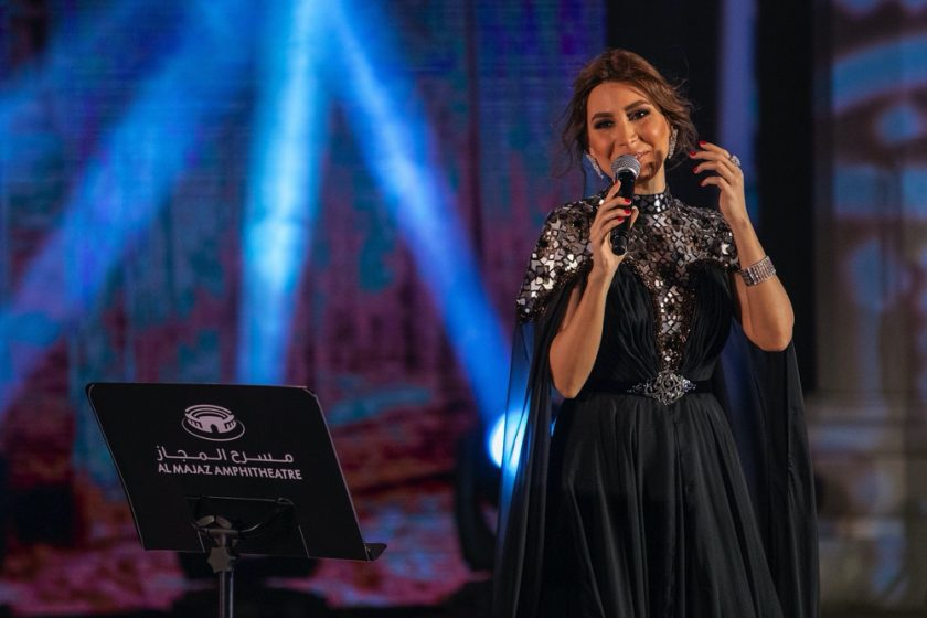 Concluding concert of #letsmajaz's special programme for Eid Al-Fitr More than a 110k fans view online Yara's live performance at Al Majaz Amphitheatre