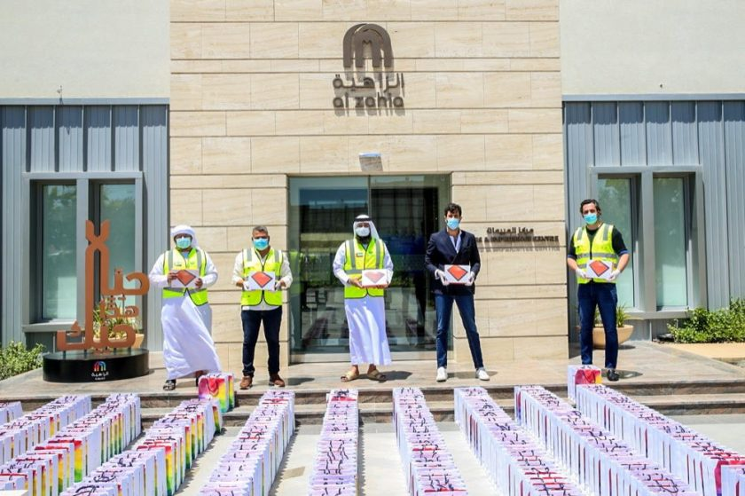 Al Zahia supports underprivileged families with electronic tablets for remote learning