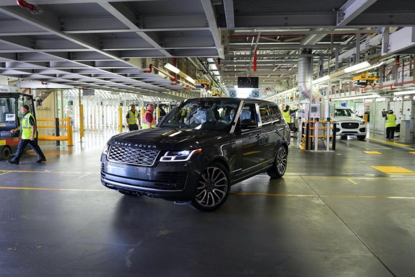 FIRST RANGE ROVER MADE UNDER SOCIAL DISTANCING MEASURES