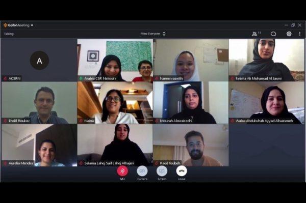 Arabia CSR Network conducts a virtual GRI Standards Training