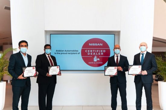 Arabian Automobiles awarded 'Safe and Clean' certification