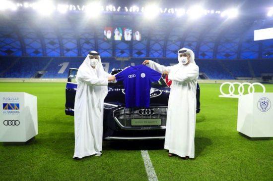 عقدت النابوده للسيارات – أودي شراكة مع شركة النصر لكرة القدم