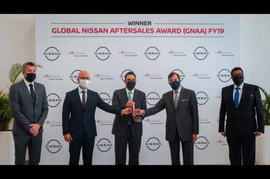 Arabian Automobiles awarded Global Nissan Aftersales Award