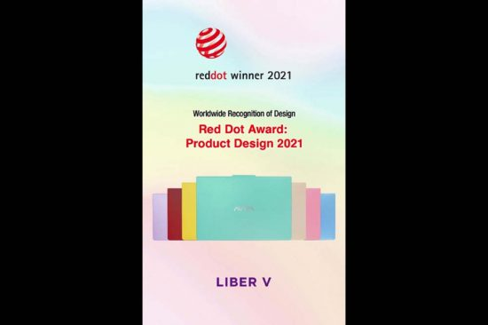 AVITA LIBER V notebook wins coveted Red Dot 2021