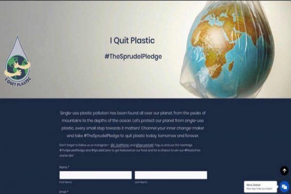"""تطلق سبروديل حركة """"I Quit Plastic"""" في مهمة للتخلص من البلاستيك"""