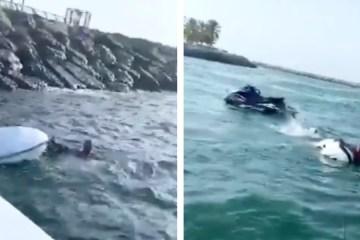 Dubai Police jet ski crash Al Mamzar breakwater