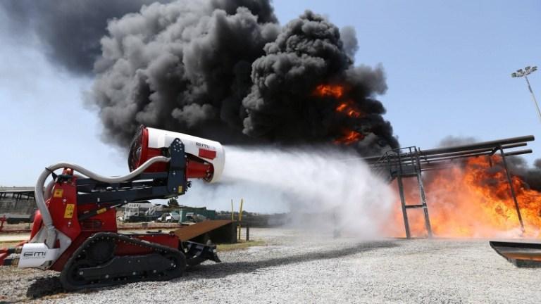 TAF35 firefighting robot Abu Dhabi