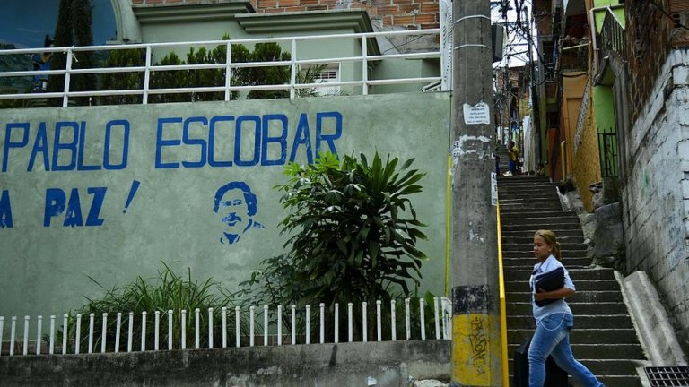 AED70 million found stashed in a wall of Pablo Escobar's house