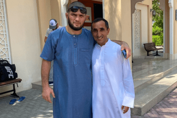 UFC star Khabib spotted at UAE mosque with Sheikh Saeed
