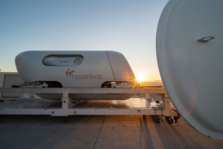 UAE-backed Hyperloop makes its first human journey