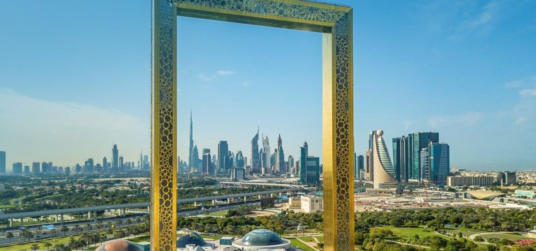 This might be the best breakfast spot in Dubai thanks to that incredible view