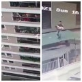 Incredible video as 2-year-old falls 12 stories but is caught by delivery driver