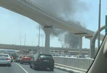 Fire breaks out near Dubai Metro station in Deira
