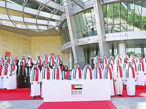Celebrating Flag Day by decorating Sheikh Zayed & Jumeirah Roads, and Dubai Water Canal
