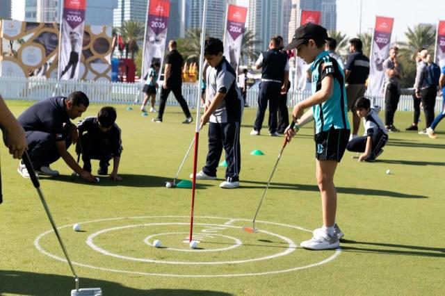 KIDS TAKE CONTROL AT OMEGA DUBAI DESERT CLASSIC