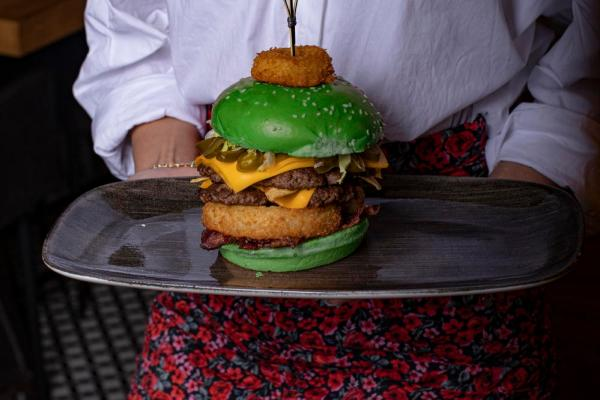Le Burger Goes Green for St. Patrick's Day