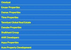 List of Property Developers in Dubai, United Arab Emirates