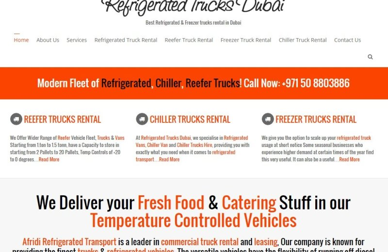 Refrigerated Trucks for Rent in Dubai