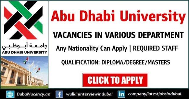 Abu Dhabi University Careers