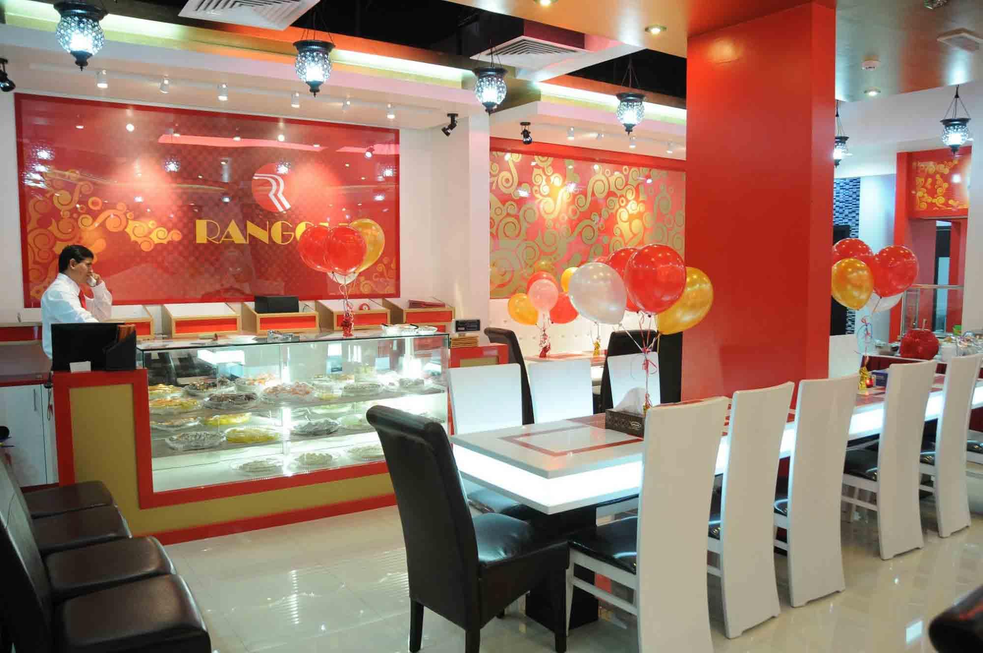 Rangoli in Dubai famous for Gujarati Thali