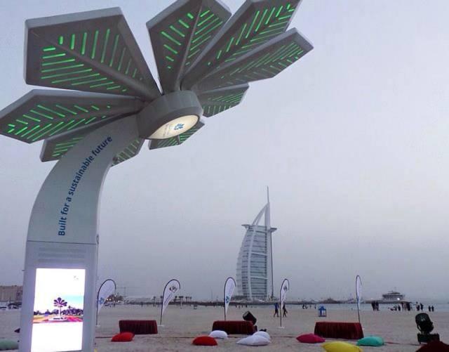 Wifi palms at Jumeirah beach