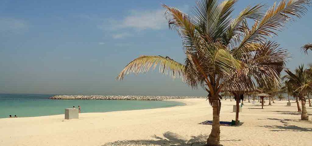 Jumeirah beach in Dubai