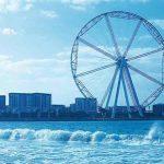 Ain Dubai or Dubai Eye Ferris wheel on Blue Water Island
