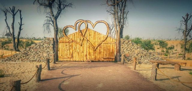 Love lake Dubai Entrance gate