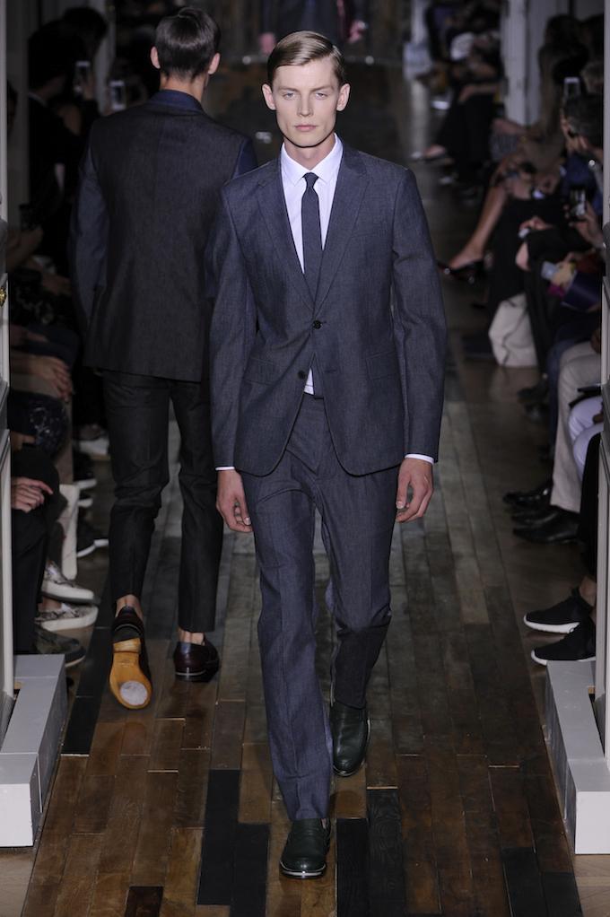 Valentino denim suit for 2014