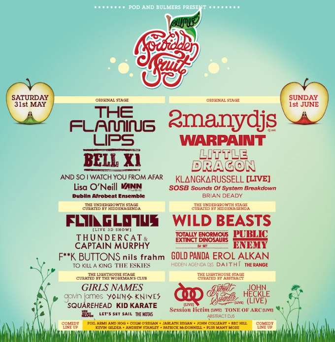 Forbidden Fruit festival 2014 in Dublin