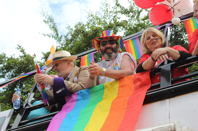 Attendees at Dublin Pride Parade 2014