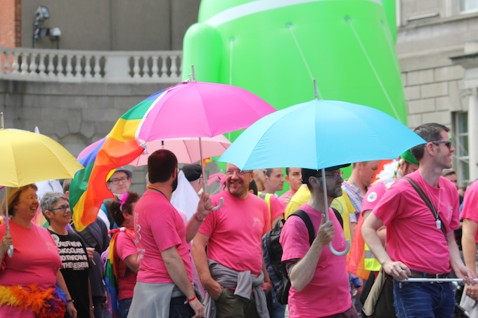 Expecting rain at Dublin Pride Parade 2014?