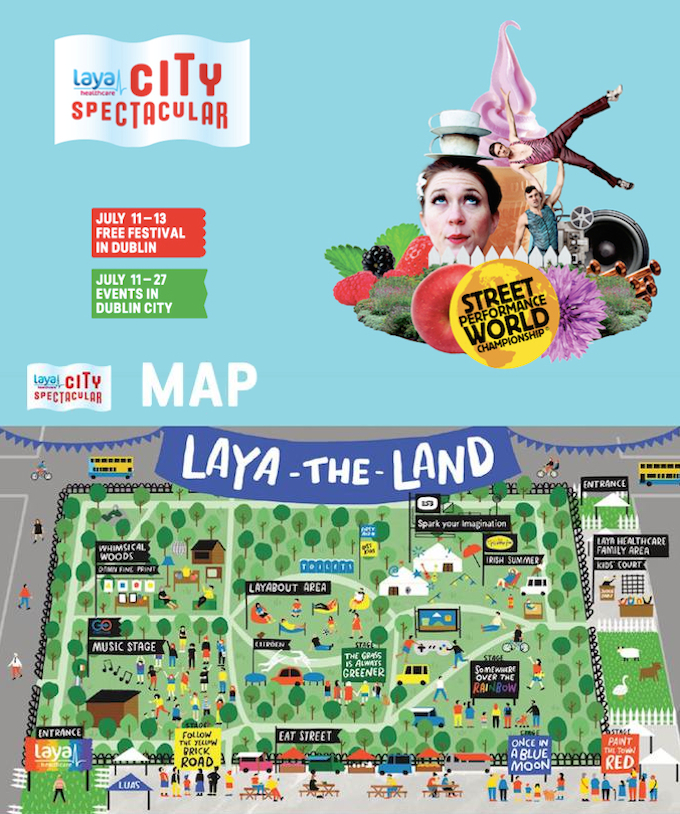 Map of the Laya City Spectacular events in Merrion Square