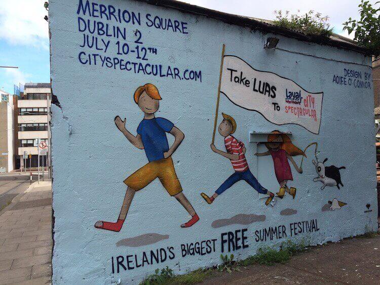 Laya Healthcare City Spectacular hoarding in Dublin by Aoife O'Connor