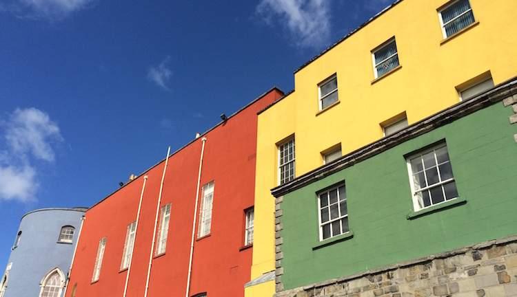 colourful facade dublin castle