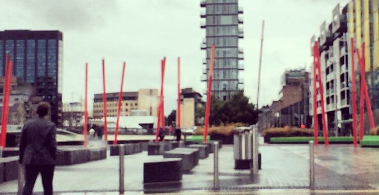 Grand Canal Square in Dublin