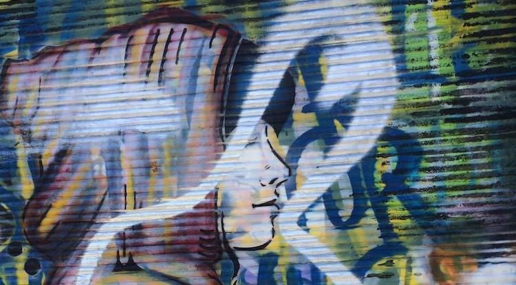 Street art in Smithfield area of Dublin